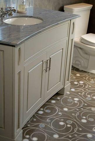 The Allen Tile Company Cape Cod Portfolio - Curved tile border